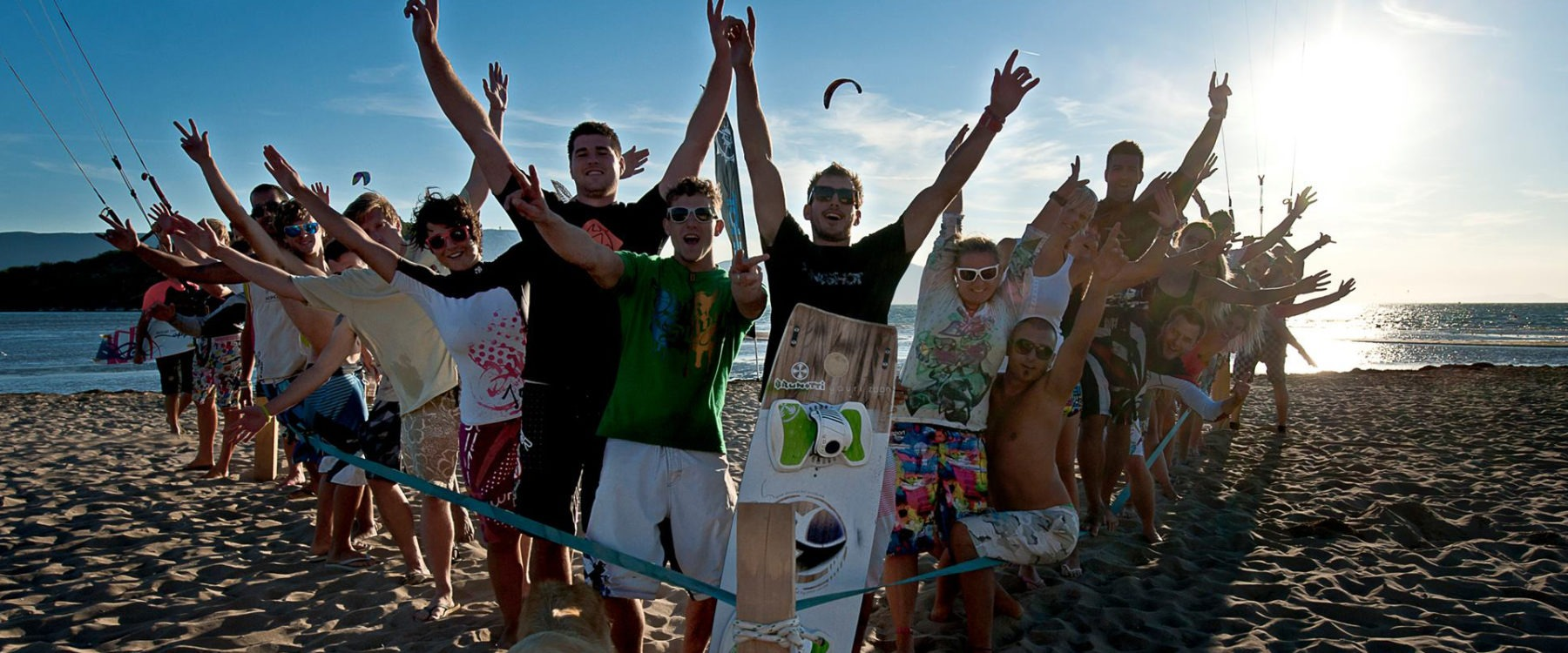 Groep kitesurfers @ neretva kiteboarding - kiteplus kitesurfvakanties
